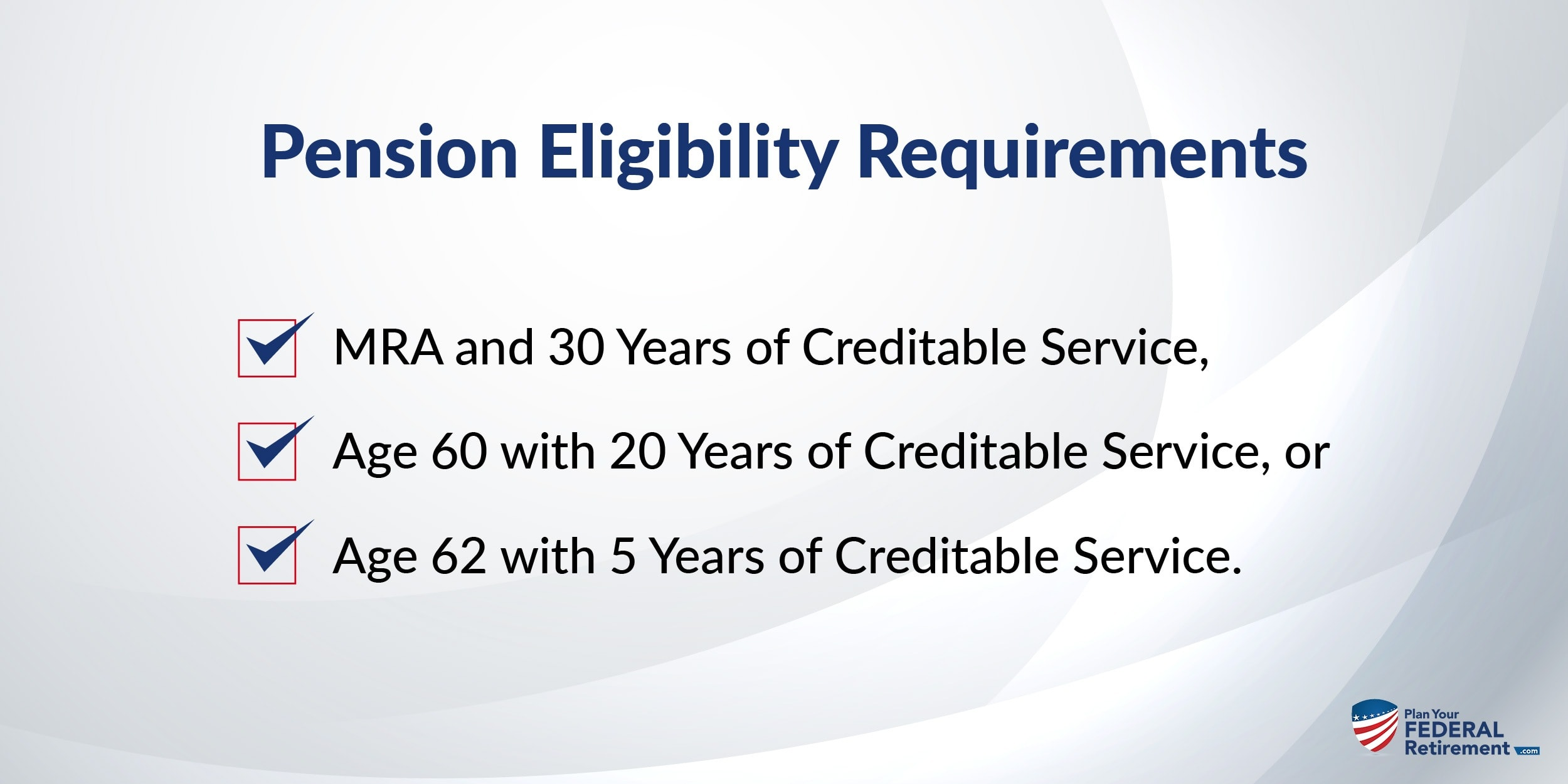 Pension Eligibility Requirements