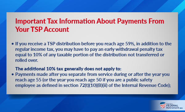 Tax Information About Payments From Your TSP